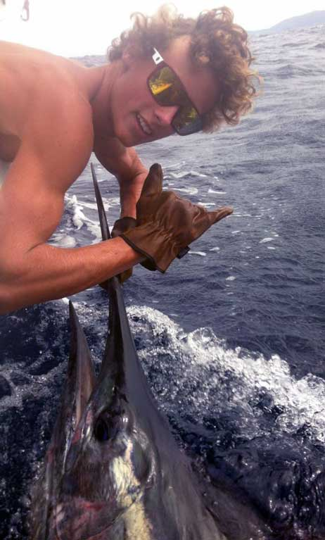 Luke Striped Marlin Mid North Coast